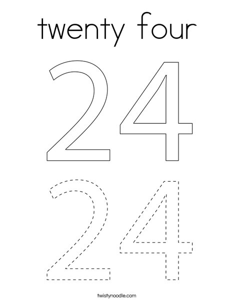 twenty four Coloring Page