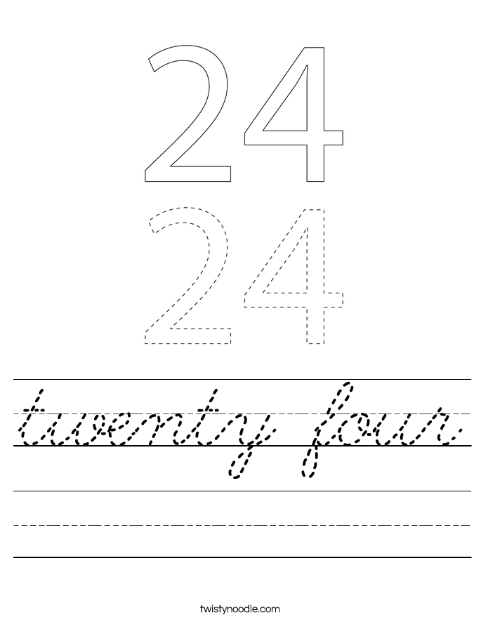 twenty four Worksheet
