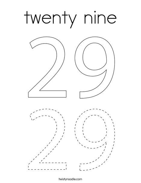 twenty nine Coloring Page