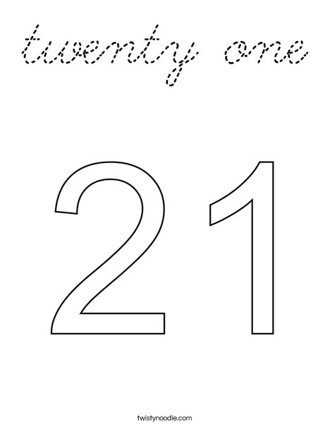 twenty one Coloring Page