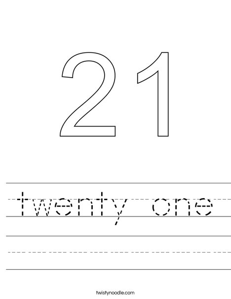twenty one Worksheet