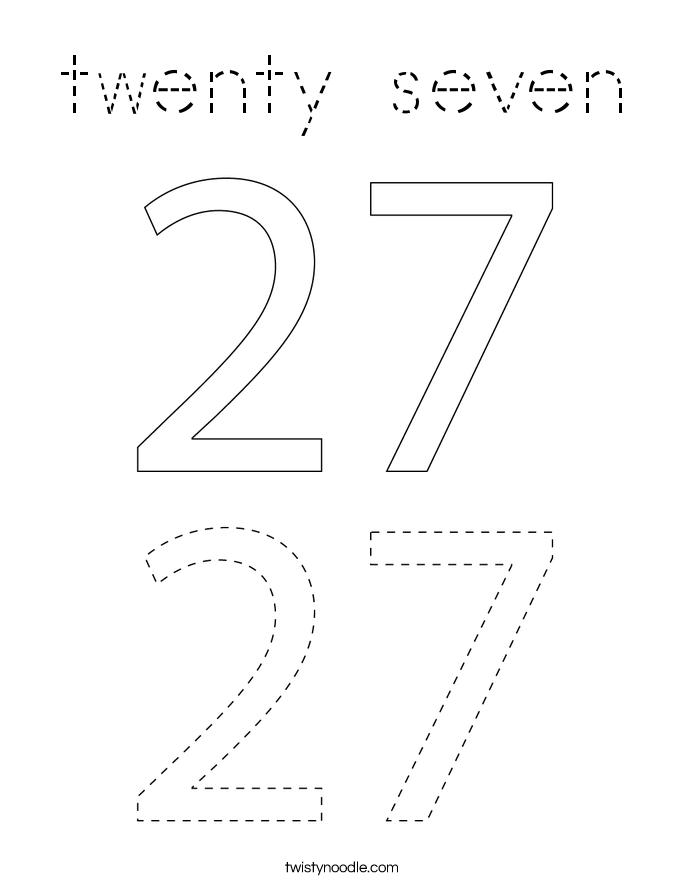 twenty seven Coloring Page