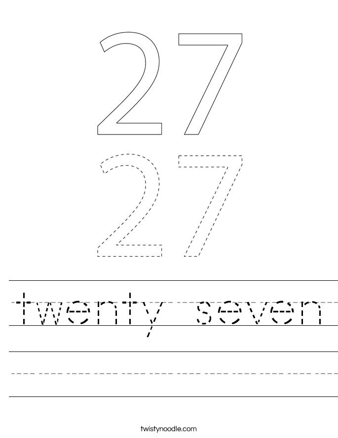 twenty seven Worksheet