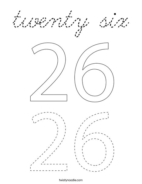 twenty six Coloring Page