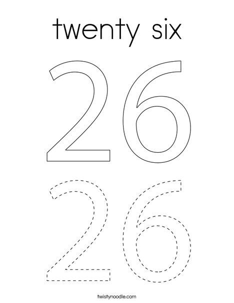 twenty six Coloring Page