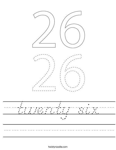 twenty six Worksheet