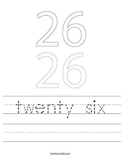 twenty six Worksheet