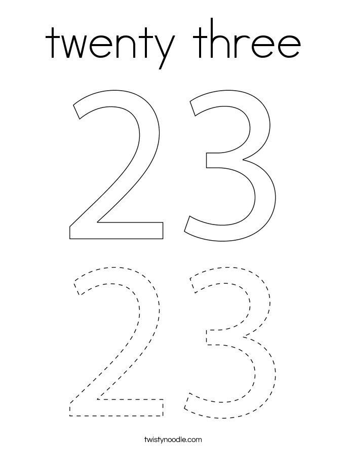 twenty three Coloring Page