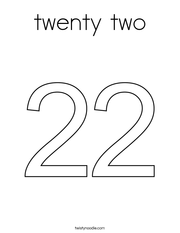 twenty two Coloring Page