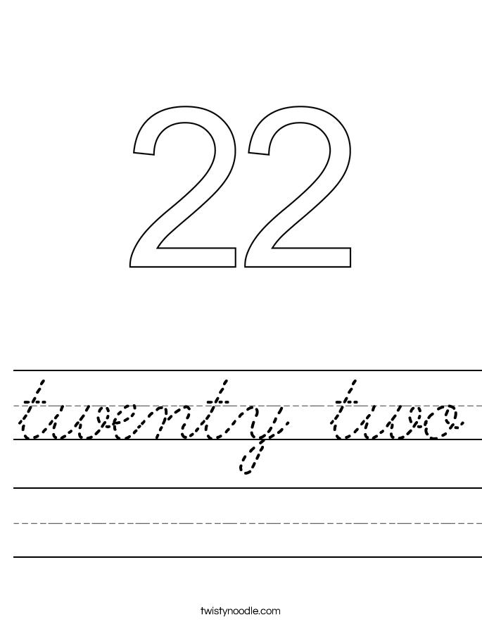 twenty two Worksheet
