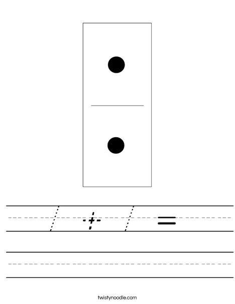 Domino Two Worksheet