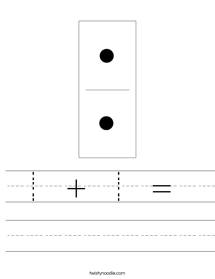 1 +1 =  Worksheet