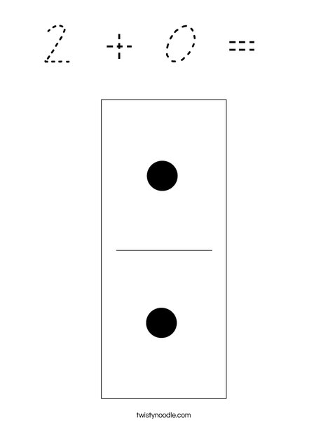 Domino Two Coloring Page