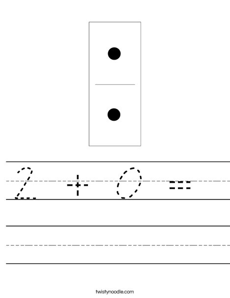 Domino Two Worksheet
