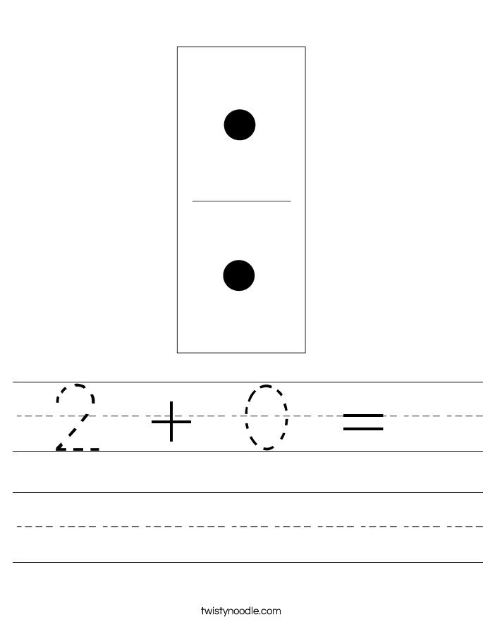 2 + 0 =  Worksheet
