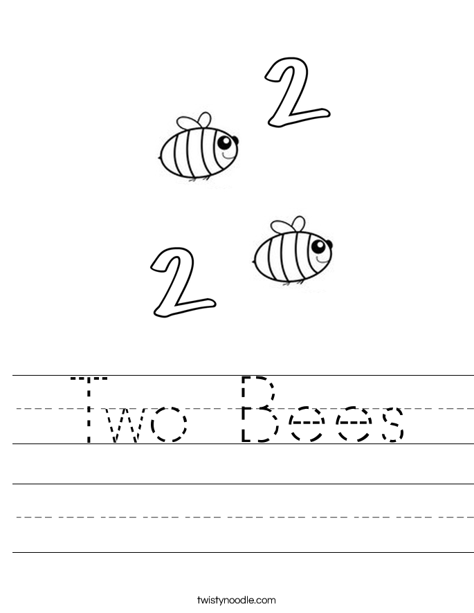 Two Bees Worksheet