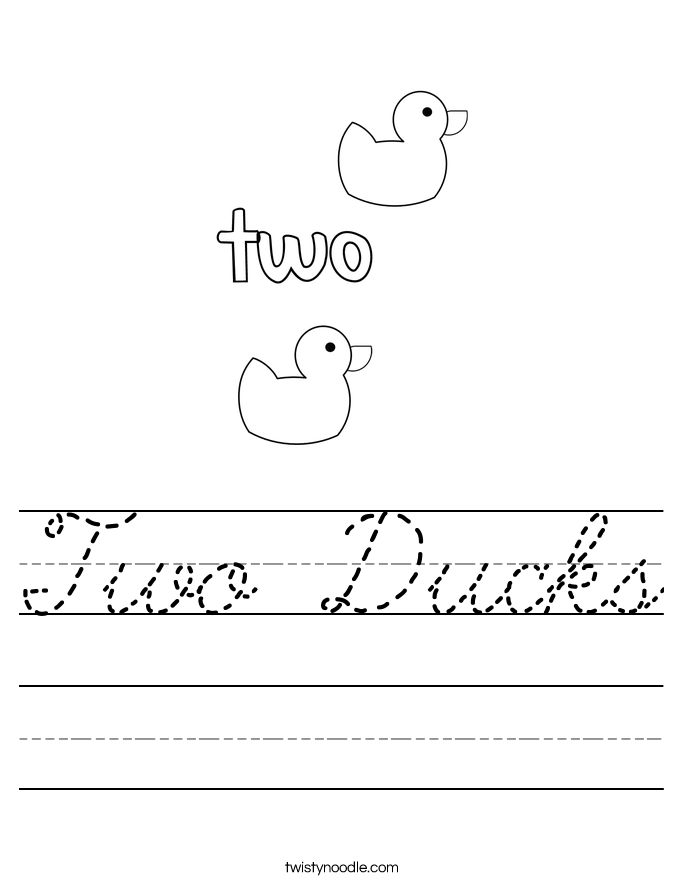 how to draw a duck with number 2