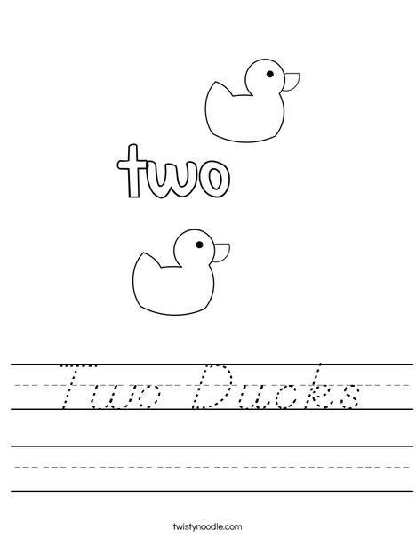 Two Ducks Worksheet