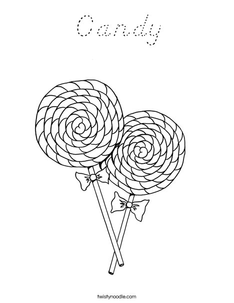Two Lollipops Coloring Page