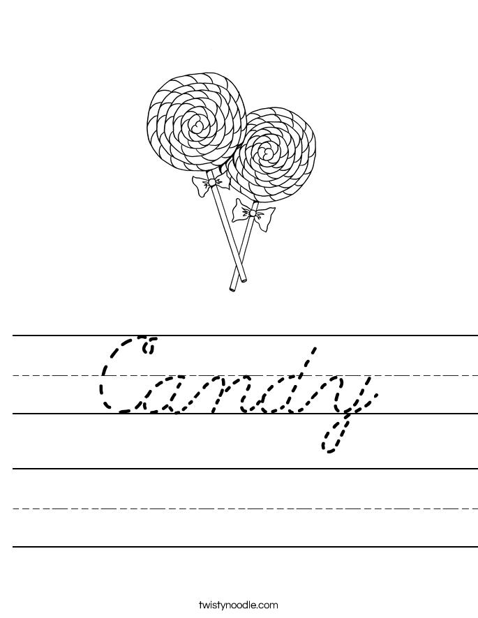 Candy Worksheet