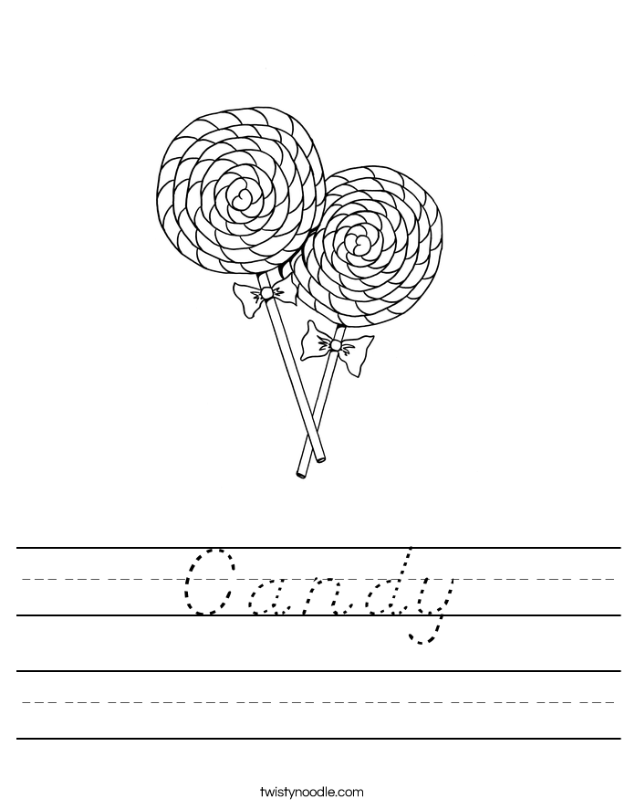 Candy Worksheet