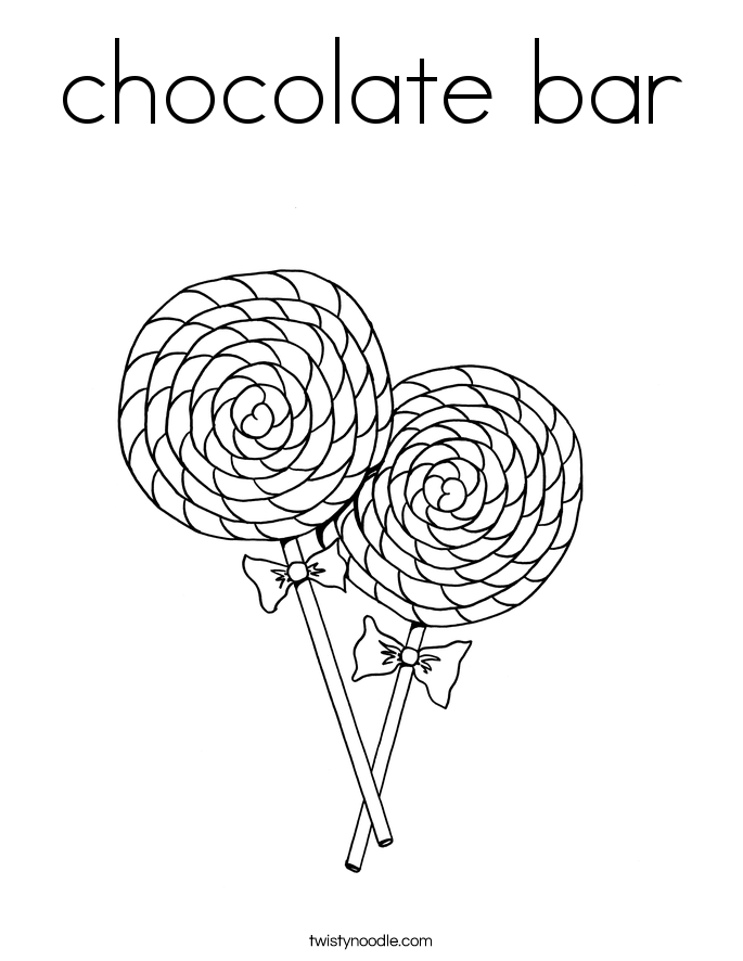 chocolate bar Coloring Page Twisty Noodle