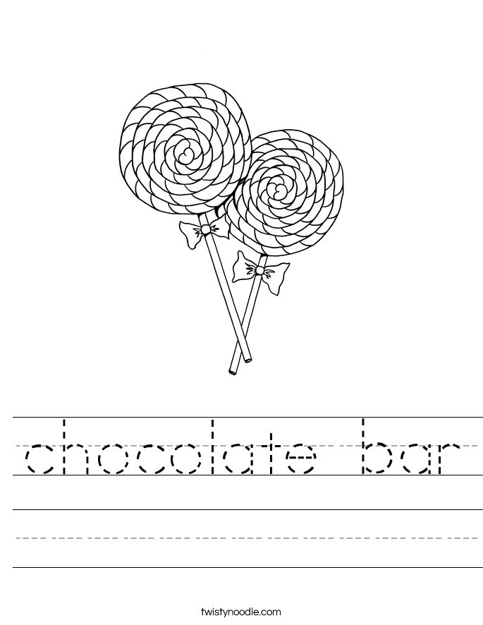 chocolate bar Worksheet