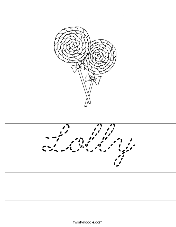 Lolly Worksheet