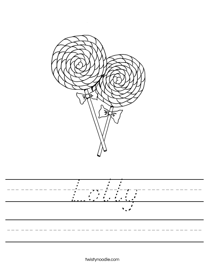 Lolly Worksheet