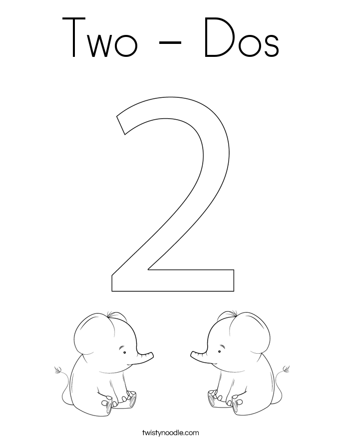 Two - Dos Coloring Page