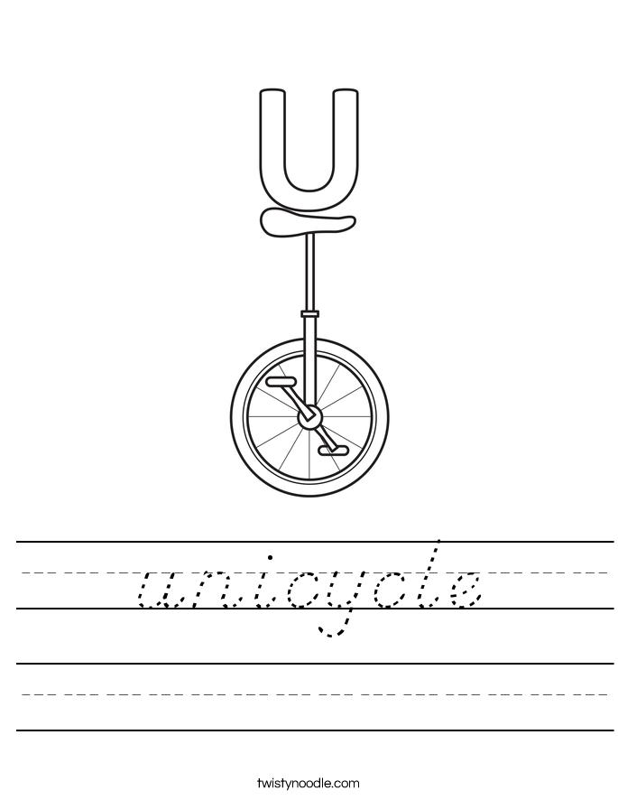unicycle Worksheet