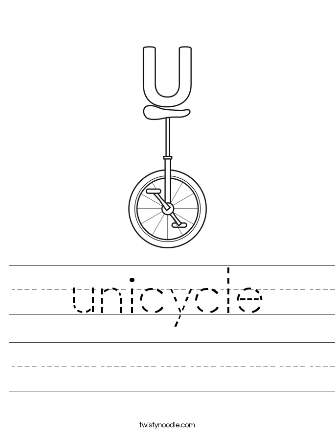 unicycle Worksheet