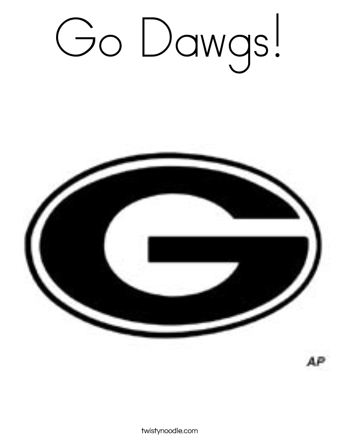 Georgia dawgs logo coloring pages coloring pages for Georgia bulldog coloring pages