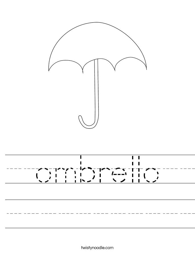 ombrello Worksheet