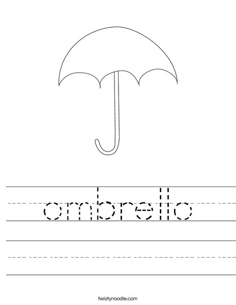 Umbrella Worksheet
