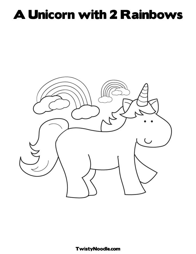 rainbow and unicorn co...