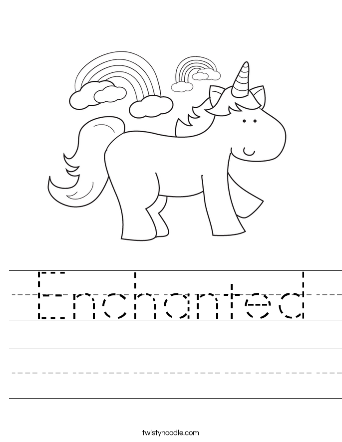 Enchanted Worksheet