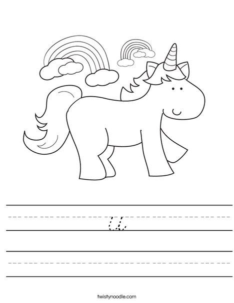 Unicorn Worksheet