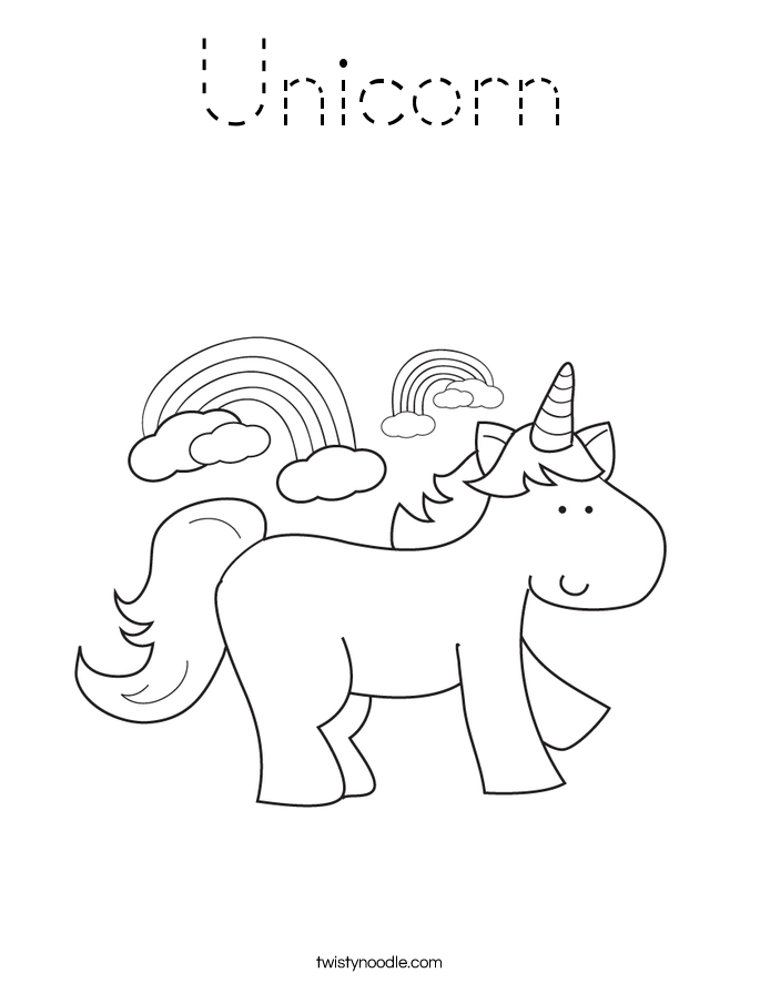Unicorn Coloring Page Tracing