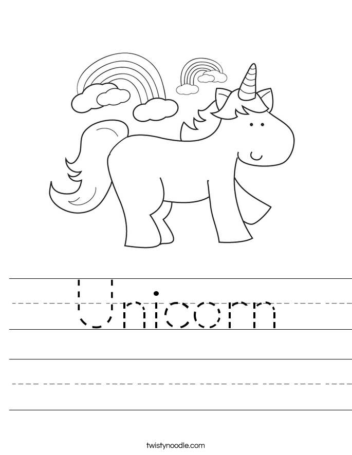 Unicorn Worksheet