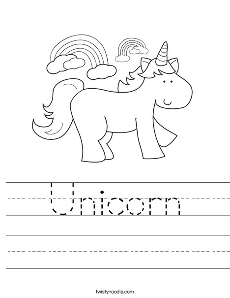 Unicorn Coloring Pages #7