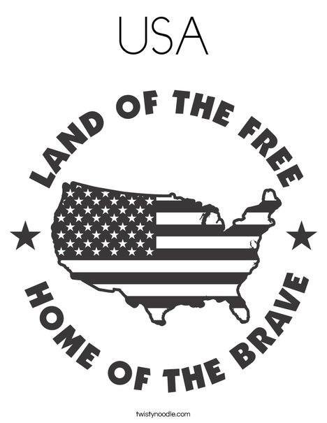 The Land of the Free Coloring Page