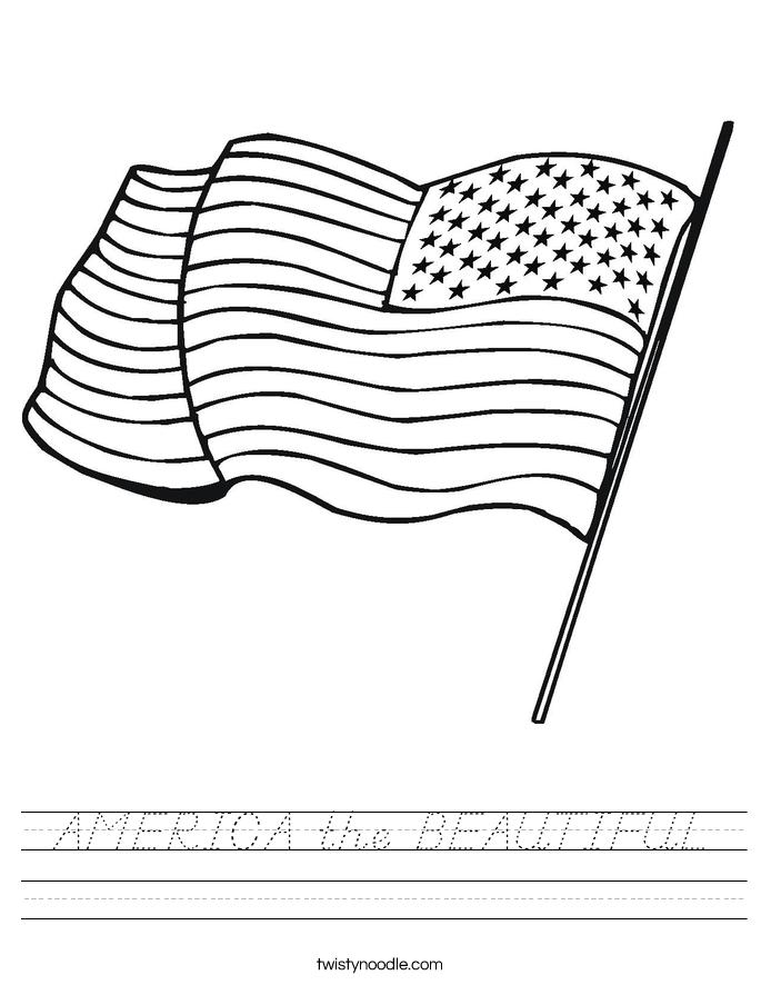 AMERICA the BEAUTIFUL Worksheet