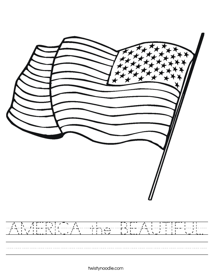 AMERICA the BEAUTIFUL Worksheet