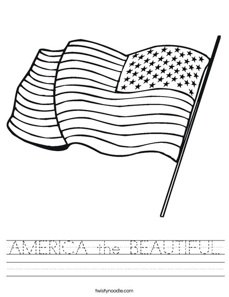 America The Beautiful Worksheet Twisty Noodle