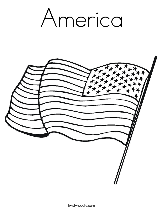 America Coloring Page