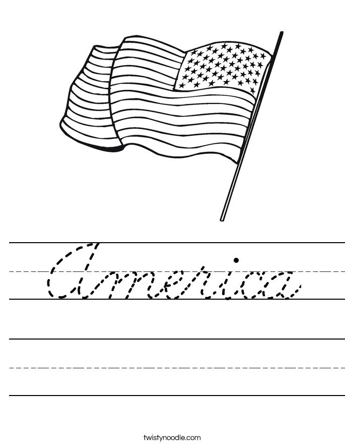 America Worksheet