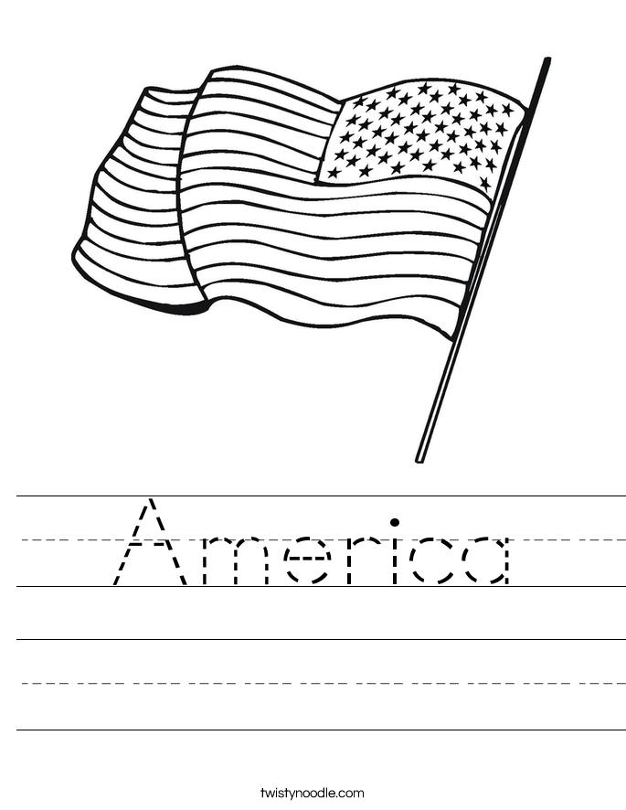 America Worksheet