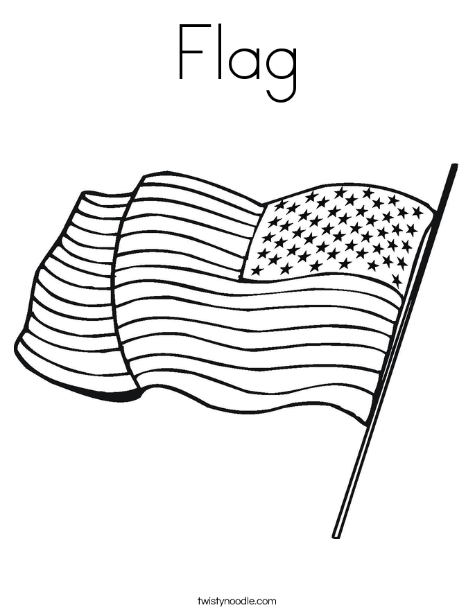 Flag Coloring Page.