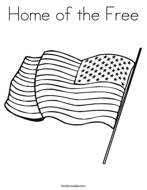 United States of America Flag Coloring Page
